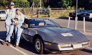 Silver Corvette